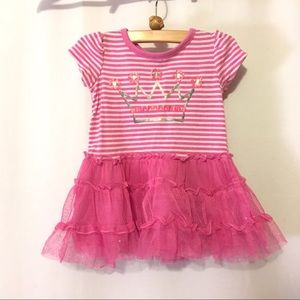 Pink crown tutu dress